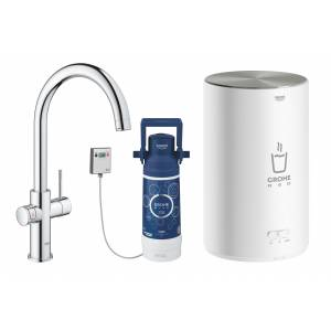 Комплект со смесителем для кухни GROHE Red Duo New, бойлер M-size, хром (30083001)