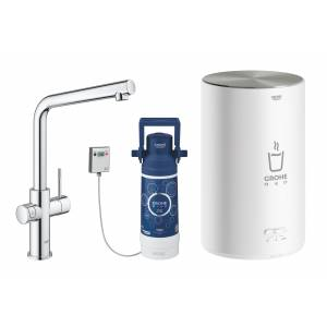 Комплект со смесителем для кухни GROHE Red Duo New, бойлер M-size, хром (30327001)