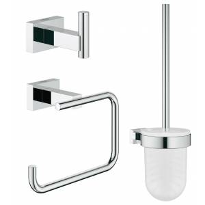 Набор аксессуаров GROHE Essentials Cube (3 предмета), хром (40757001)
