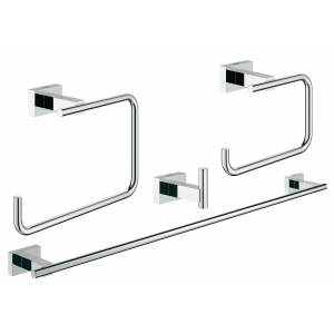 Набор аксессуаров GROHE Essentials Cube (4 предмета), хром (40778001)