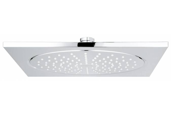 Верхний душ GROHE Rainshower F-series, 254х254 мм, шаровый шарнир, хром (27271000)