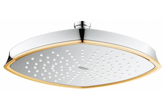 Верхний душ GROHE Rainshower Grandera, 1 режим, 220х200 мм, хром/золото (27974IG0)