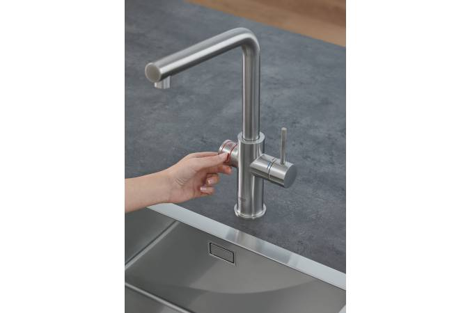 Комплект со смесителем для кухни GROHE Red Duo New, бойлер L-size, суперсталь (30325DC1)
