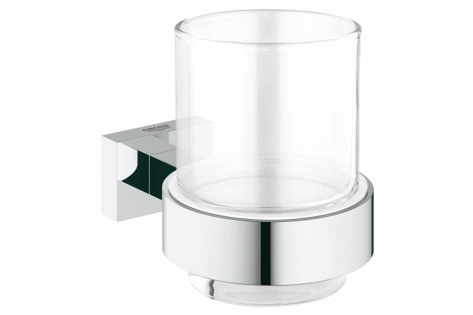 Стакан с держателем GROHE Essentials Cube, хром (40755001)